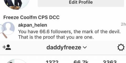 Daddy Freeze Blasts Follower