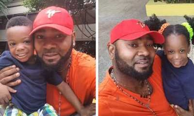 Muma Gee's twin children for Actor Prince Eke celebrates 3rd birthday today.