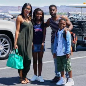 Kevin Hart and his family.