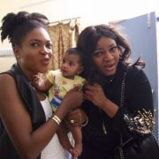 Omotola Jalade & Omoni Oboli visit to orphanage in India