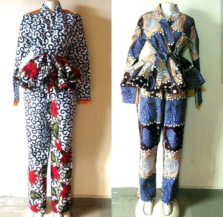 Ankara Top And Trouser Styles