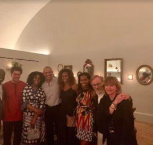 Chimamanda Adichie and husband dine with Barack Obama & Michelle Obama