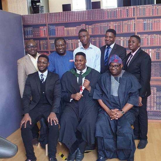Dele Momodu's son graduates from UK University