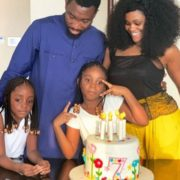 Photo: Timi Dakolo and wife celebrate with their daughter on her 7th birthday
