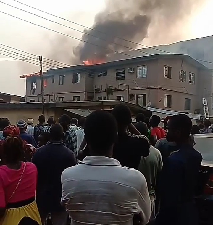 Two children rescued as fire guts building in Ketu, Lagos