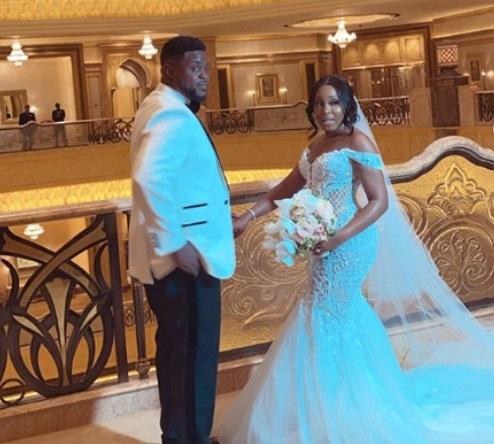 Pictures from Davido's brother, Adewale Adeleke and Kani white wedding in Abu Dhabi (Photos/Videos) #Adekani